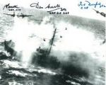 World War 2 Pilots (x3 Autographs) - Genuine Signed Autograph